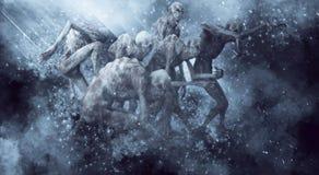 Illustrazione dei mostri 3D dei demoni illustrazione vettoriale