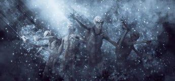 Illustrazione dei mostri 3D dei demoni royalty illustrazione gratis