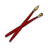 Illustrazione dei pennelli Fotografia Stock