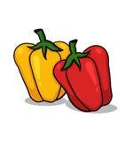 Illustrazione dei peperoni dolci Immagine Stock