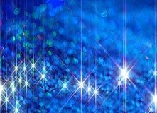 Illustrazione dei raggi brillanti su un fondo blu illustrazione vettoriale