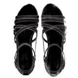 Illustrazione dei sandali del cuneo Fotografia Stock Libera da Diritti