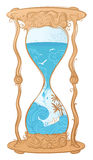 Illustrazione dei sandglass dell'acqua di vettore Fotografie Stock