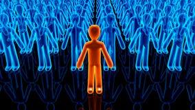 Illustrazione dei seguaci che compaiono dietro un'icona dell'avatar illustrazione vettoriale