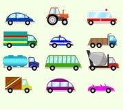 Illustrazione dei tipi differenti veicoli Fotografie Stock