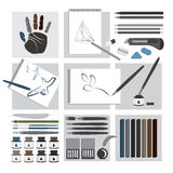 Illustrazione del â degli elementi del mestiere e di arte Fotografia Stock Libera da Diritti