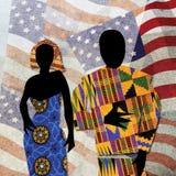 Illustrazione del African-American, Matisse-stile Immagine Stock