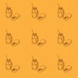 Illustrazione del barattolo bevente Immagine Stock