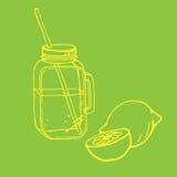 Illustrazione del barattolo bevente Fotografia Stock Libera da Diritti