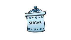 Illustrazione del barattolo dello zucchero illustrazione vettoriale