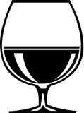 Illustrazione del bicchiere da brandy di brandy Fotografia Stock