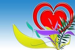 Illustrazione del biglietto di S. Valentino Fotografia Stock Libera da Diritti