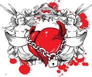 Illustrazione del biglietto di S. Valentino Fotografia Stock