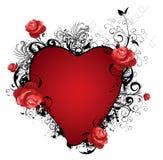 Illustrazione del biglietto di S. Valentino Fotografie Stock Libere da Diritti