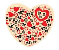 Illustrazione del biglietto di S. Valentino Immagini Stock Libere da Diritti
