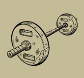 Illustrazione del bilanciere Articolo sportivo, forma fisica Fotografie Stock Libere da Diritti