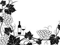Illustrazione del blocco per grafici dell'uva illustrazione di stock