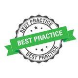 Illustrazione del bollo di best practice Fotografia Stock