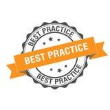 Illustrazione del bollo di best practice Illustrazione Vettoriale