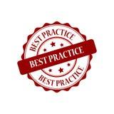 Illustrazione del bollo di best practice Immagine Stock Libera da Diritti