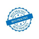 Illustrazione del bollo di best practice Illustrazione di Stock