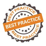 Illustrazione del bollo di best practice su bianco Royalty Illustrazione gratis