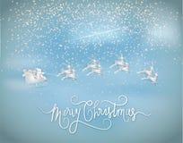 Illustrazione del Buon Natale e del nuovo anno Givein del Babbo Natale immagine stock libera da diritti