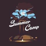 Illustrazione del campeggio estivo Fotografia Stock