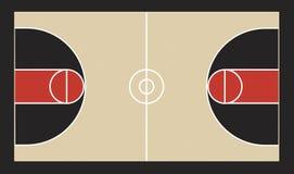 Illustrazione del campo da pallacanestro illustrazione vettoriale