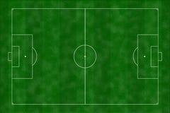 Illustrazione del campo di calcio immagine stock