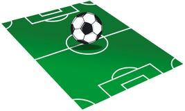 Illustrazione del campo di calcio Immagini Stock