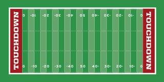 Illustrazione del campo di football americano Fotografia Stock Libera da Diritti