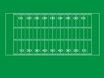 Illustrazione del campo di football americano Immagine Stock Libera da Diritti