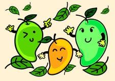 Illustrazione del carattere allegro del mango del fumetto Immagine Stock