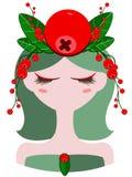Illustrazione del carattere del mirtillo rosso Fotografia Stock Libera da Diritti