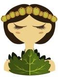 Illustrazione del carattere dell'uva spina Fotografia Stock
