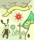 Illustrazione del carattere di fantasia Fotografia Stock