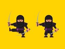 Illustrazione del carattere di ninja in uno stile piano royalty illustrazione gratis