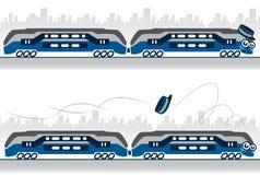 Illustrazione del carattere di un treno che perde ciao illustrazione vettoriale