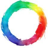 Illustrazione del cerchio di zen dell'acquerello fotografia stock libera da diritti