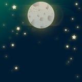 Illustrazione del cielo notturno Fotografie Stock Libere da Diritti