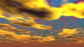 Illustrazione del cielo nuvoloso Fotografia Stock