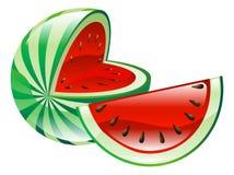Illustrazione del clipart dell'icona della frutta dell'anguria Immagini Stock Libere da Diritti