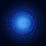 Illustrazione del codice binario sul fondo astratto di tecnologia Fotografia Stock