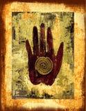 Illustrazione del collage della mano illustrazione vettoriale