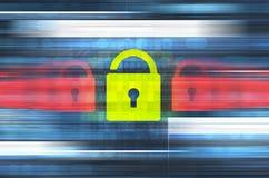 Illustrazione del collegamento sicuro Fotografie Stock