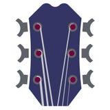 Illustrazione del collo della chitarra con sei corde fotografia stock
