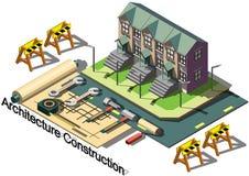 Illustrazione del concetto grafico della costruzione di architettura di informazioni Immagini Stock