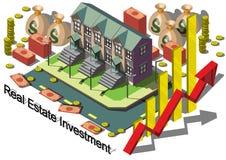 Illustrazione del concetto grafico di investimento di bene immobile di informazioni Fotografie Stock Libere da Diritti