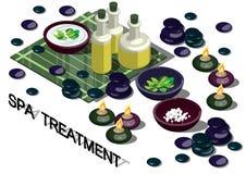 Illustrazione del concetto grafico di trattamento della stazione termale di informazioni Immagine Stock Libera da Diritti